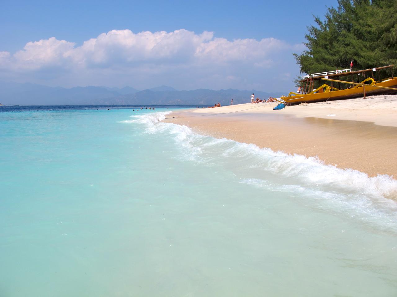 Gili Trawangan Beach auf den Gili Islands.