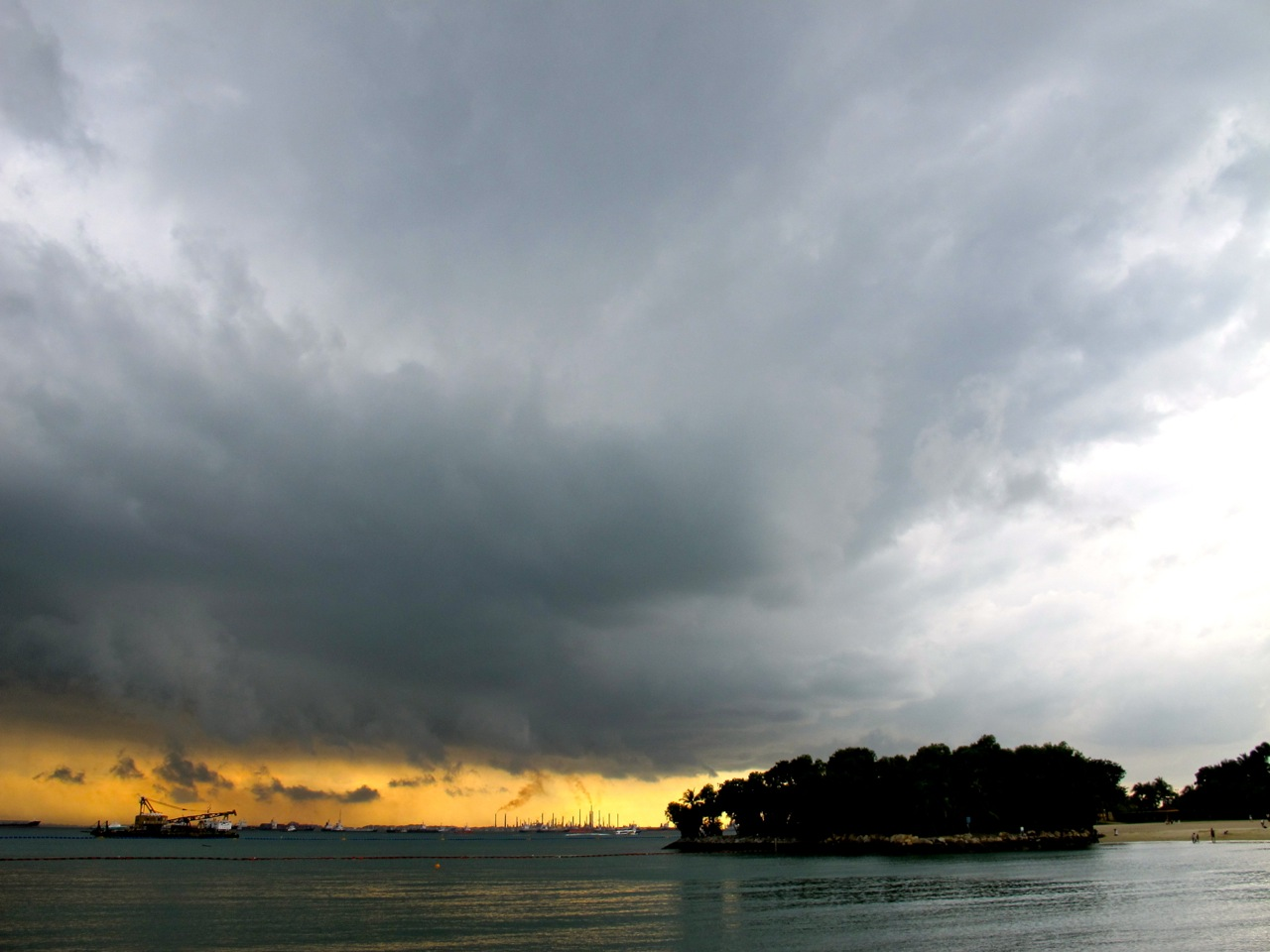 Clouds over Sentosa Island