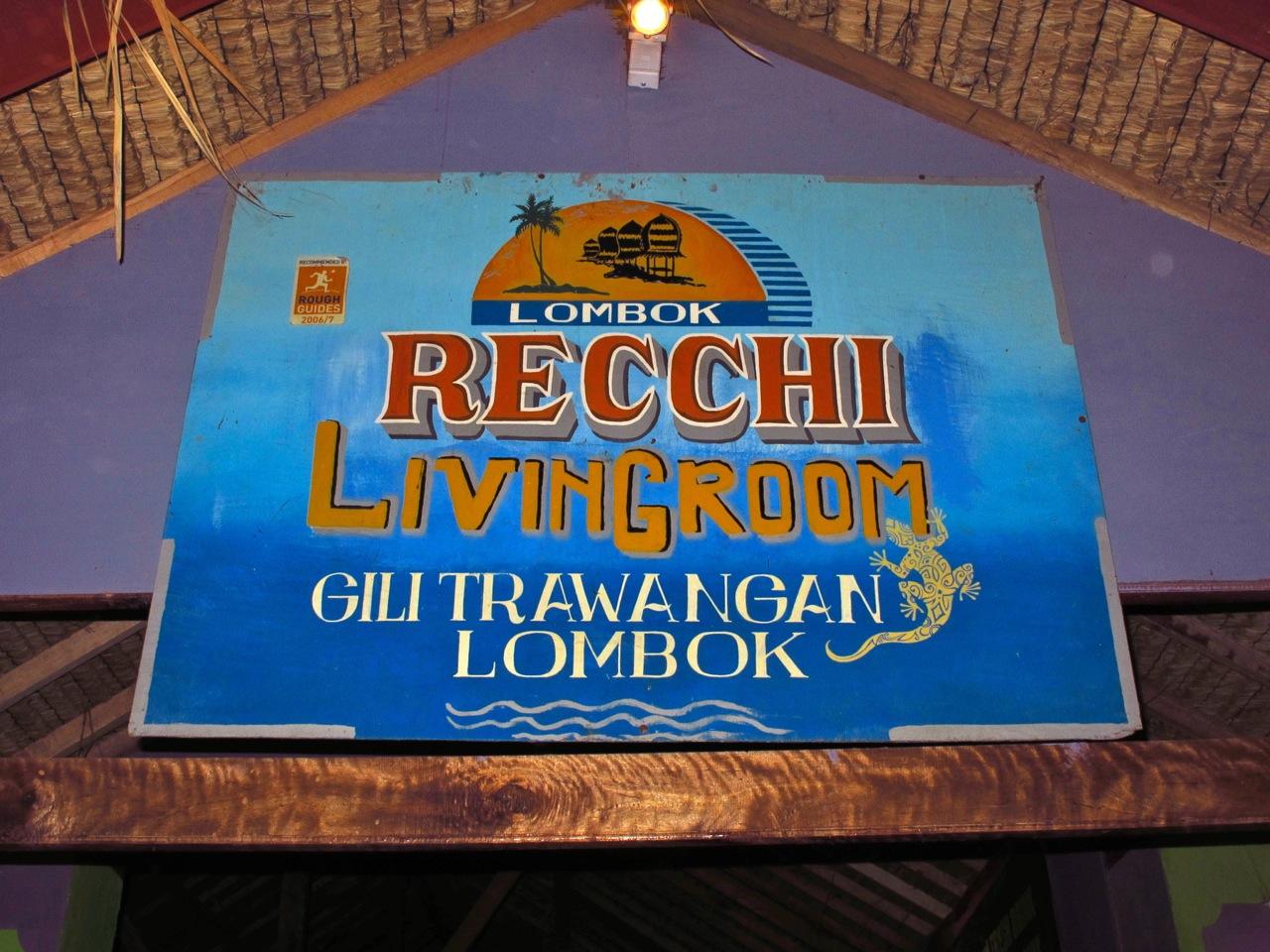 Recchi Living room Gili Trawangan