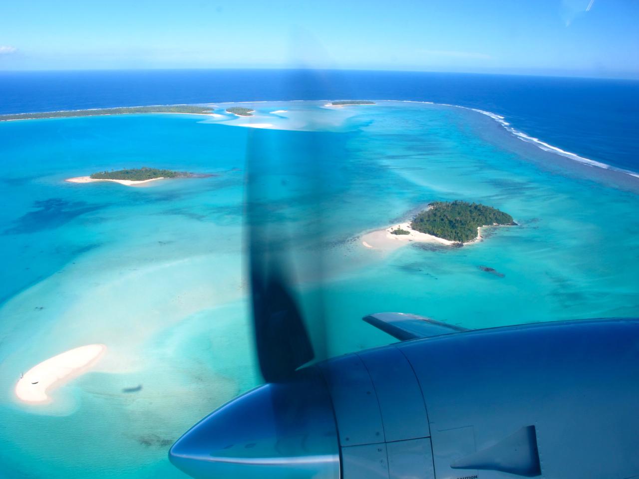 Aitutaki 3 aerial photograph