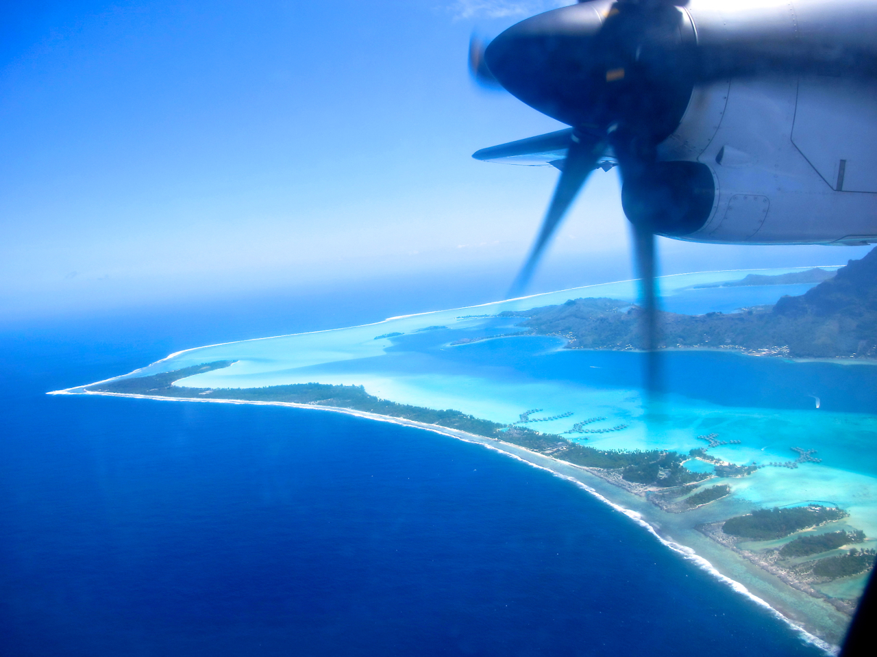 Bora Bora 2 aerial photograph
