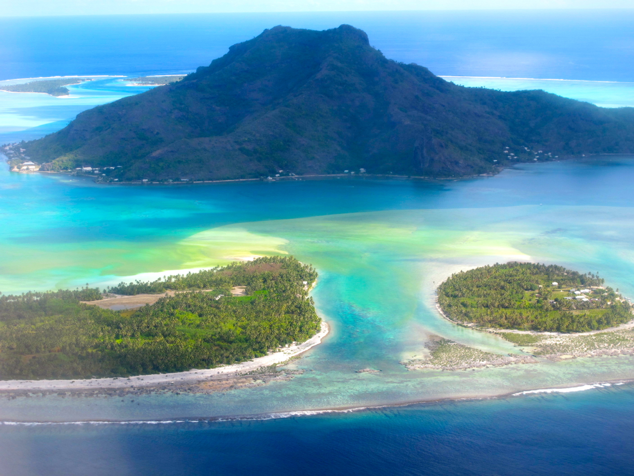 Bora Bora 6 aerial photograph