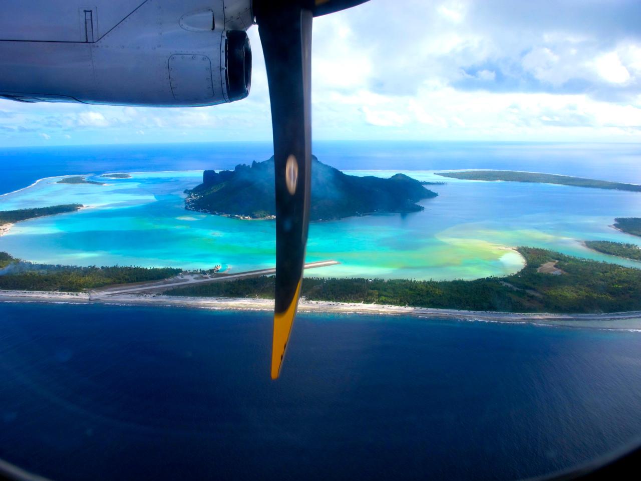 Bora Bora aerial photograph 1