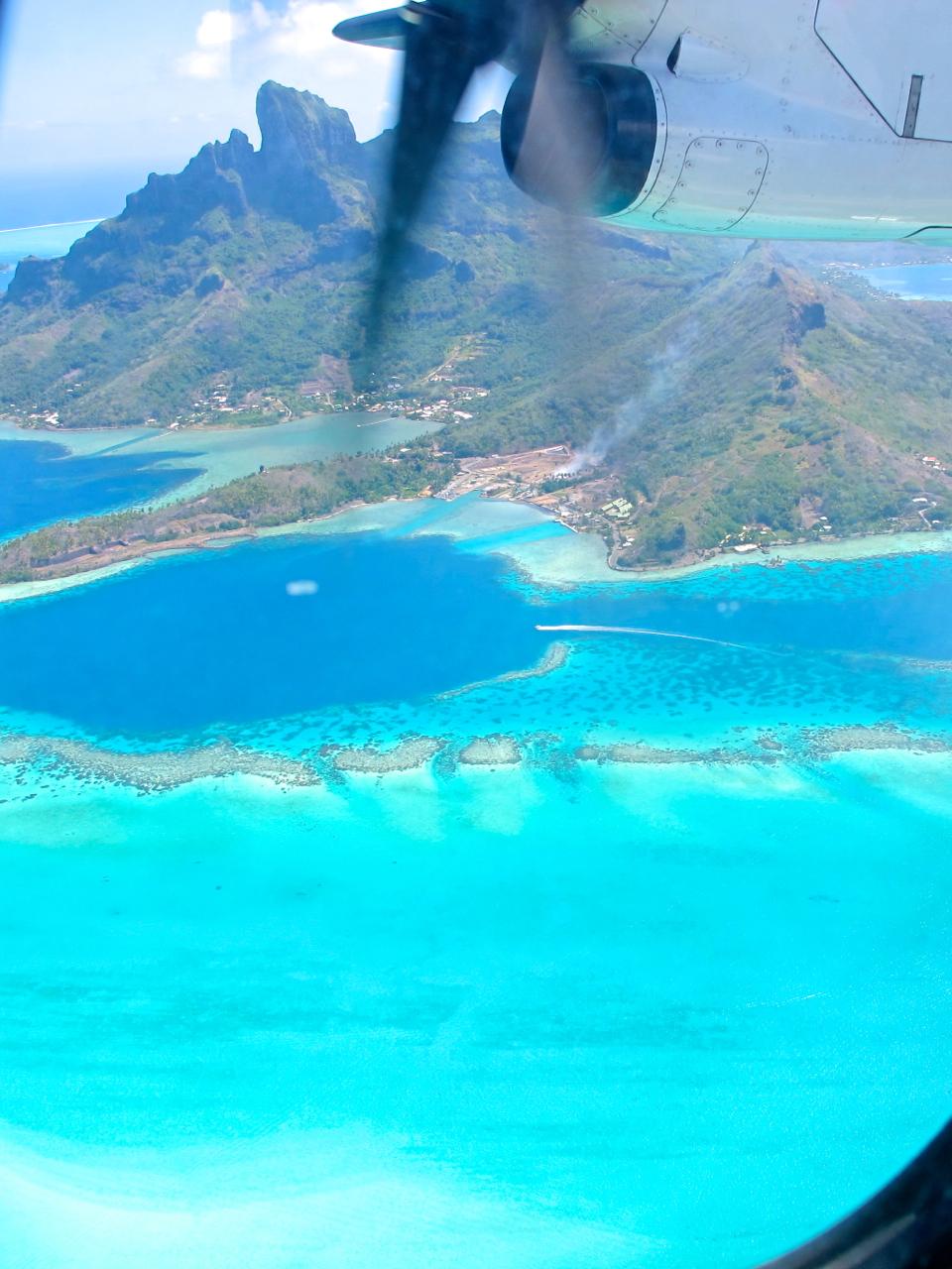 Bora Bora aerial photograph 5
