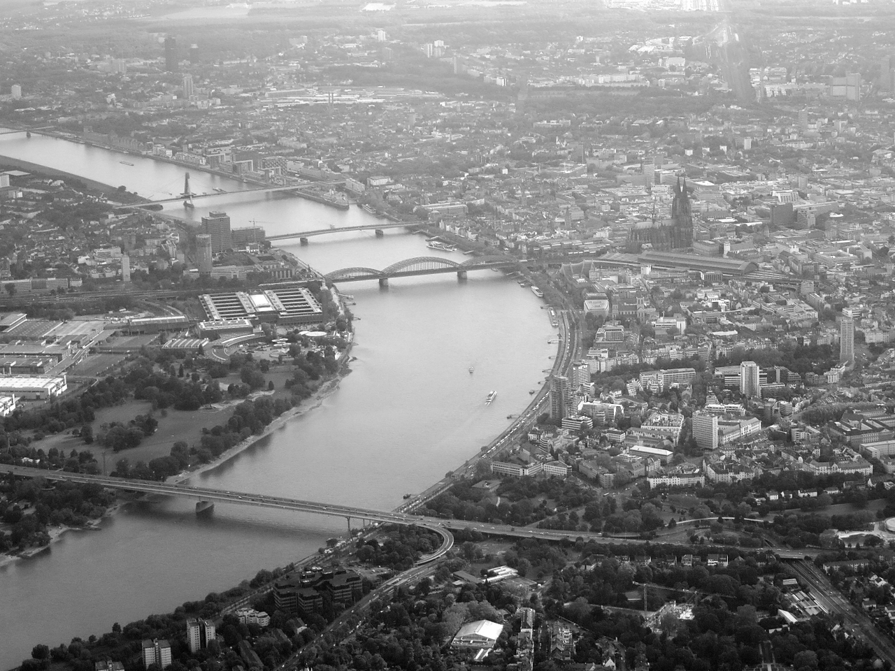 Cologne, Germany aerial photograph