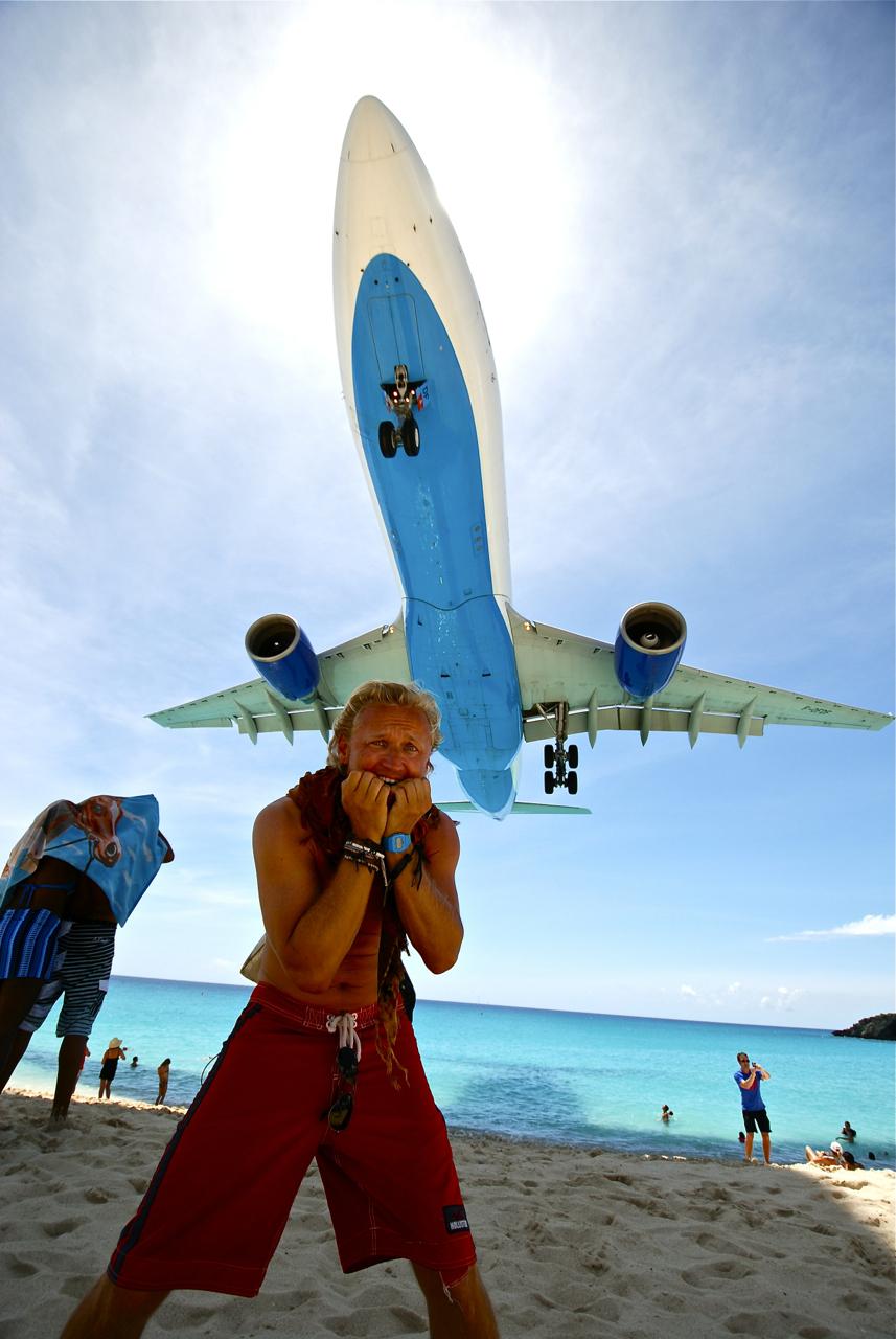 St. Maarten landing