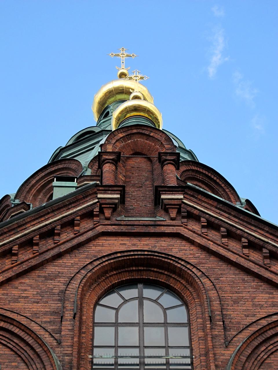 Die verzierten Türme der Uspenski Kathedrale.