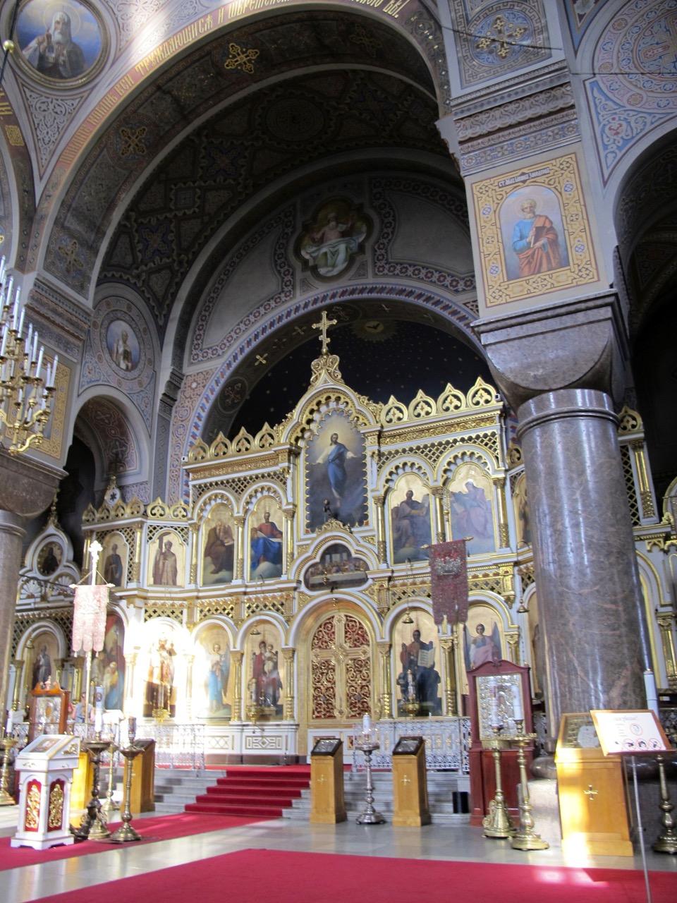 Das Innere der Uspenski Kathedrale.