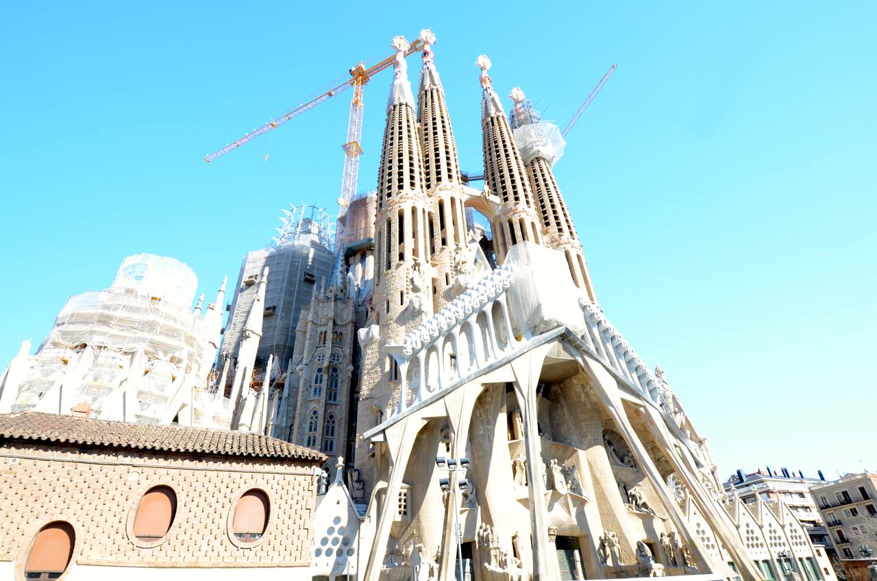 Die Rückseite der La Sagrada Familia.