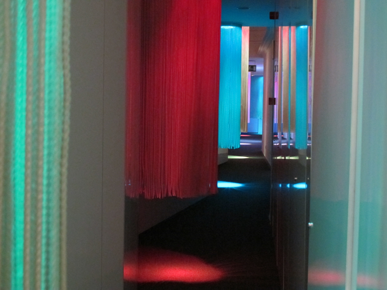 Very colorful the corridors of chic&basic Born hotel Barcelona